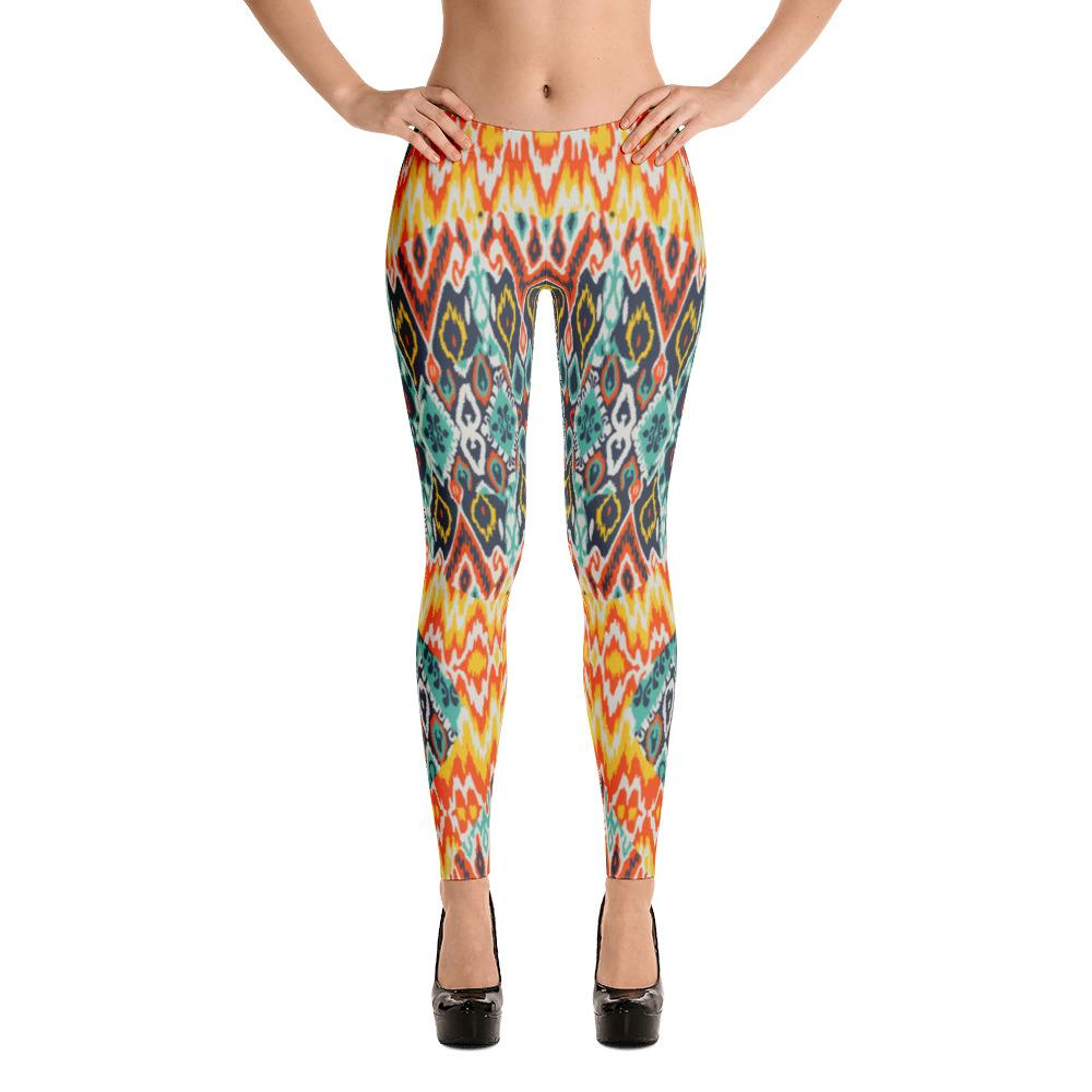 YOGA ART LEGGINGS - Sassy Bohemian Pants w/ Bright Sun Pattern * SUNBURST-YogaStatement.com