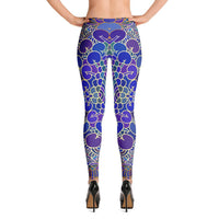 YOGA ART LEGGINGS - Sassy Bohemian Style Yoga Pants w/ Bright Bubbles Pattern - MERMAID-YogaStatement.com