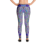 YOGA ART LEGGINGS - Sassy Bohemian Style Yoga Pants w/ Bright Mermaid Patterns - ARIEL-YogaStatement.com