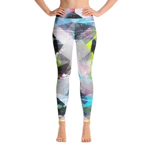 YOGA ART LEGGINGS W/ Raised Waistband - BEYOND-YogaStatement.com