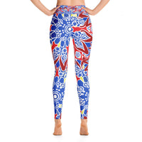 YOGA ART LEGGINGS W/ Raised Waistband - DISCOVER-YogaStatement.com