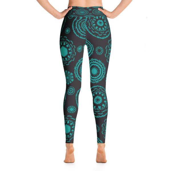 YOGA ART LEGGINGS W/ Raised Waistband - FOCUS-YogaStatement.com