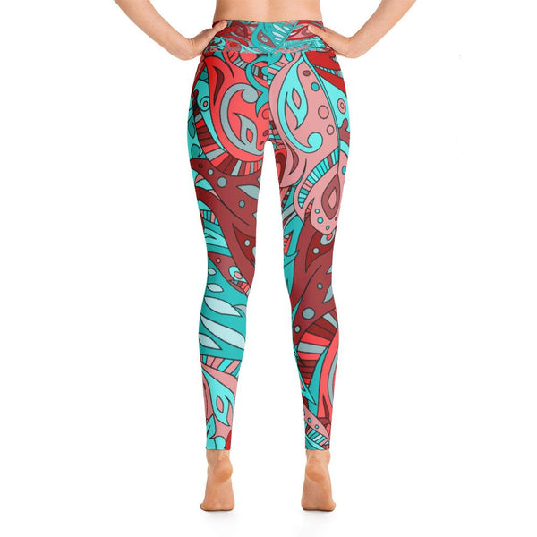 YOGA ART LEGGINGS W/ Raised Waistband - LUSH-YogaStatement.com