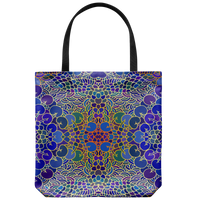 "Yoga Art Tote Bag 18"" X 18"" - MERMAID-YogaStatement.com"