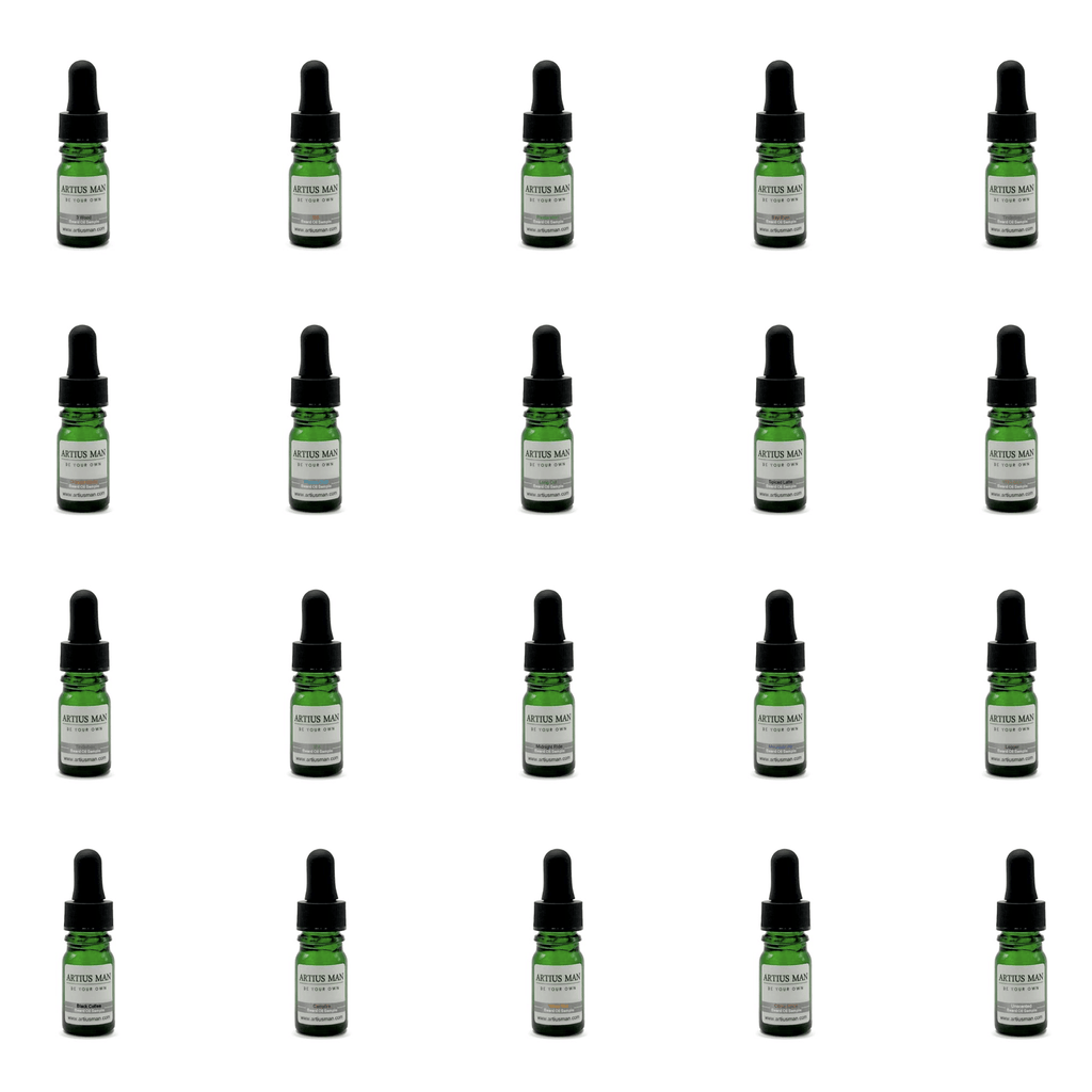 Beard Oil Sampler: 20 Pack - All Scents - Artius Man