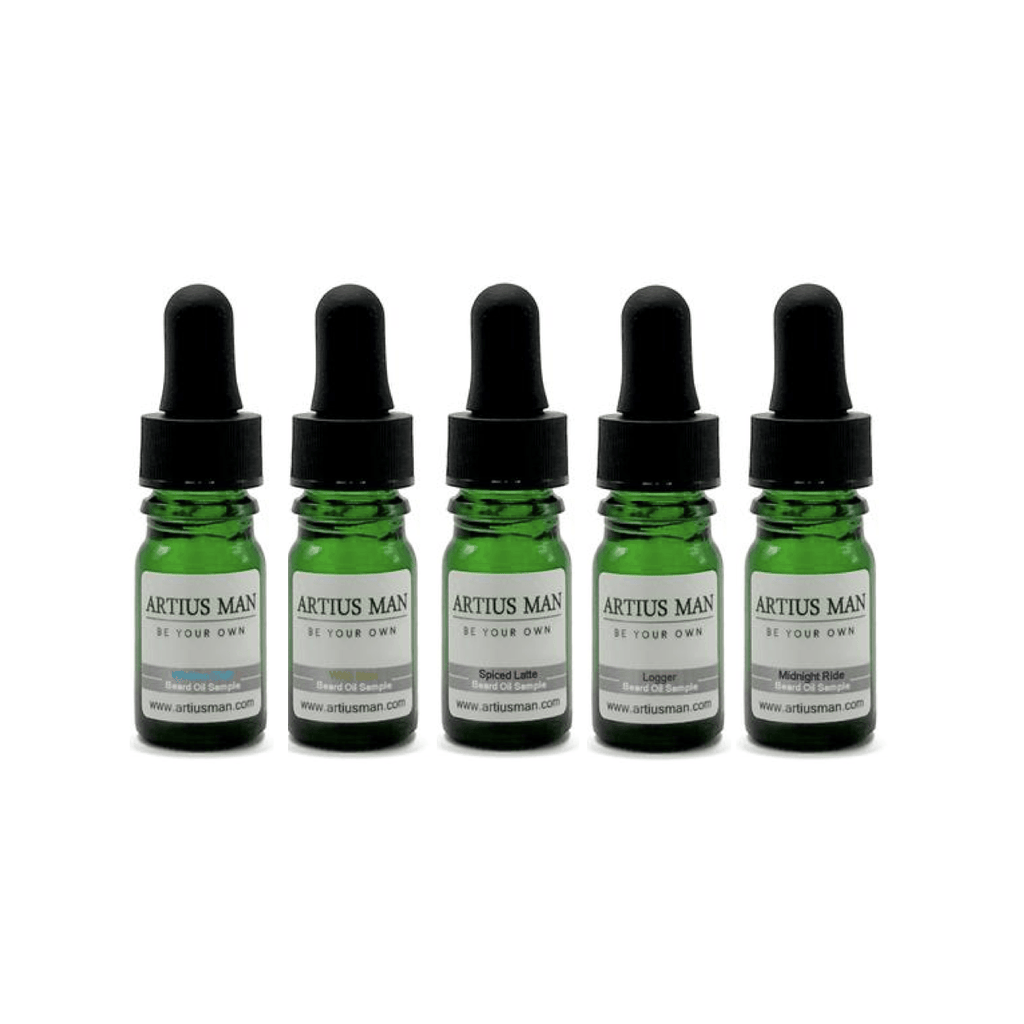 Beard Oil Sampler Pack - 5 Count - Artius Man