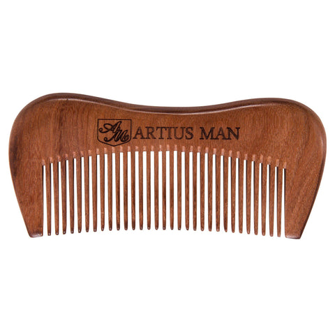 Handmade Wood Beard Comb - Artius Man