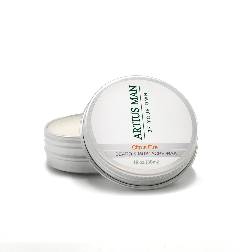Citrus Fire Beard and Mustache Wax - Artius Man