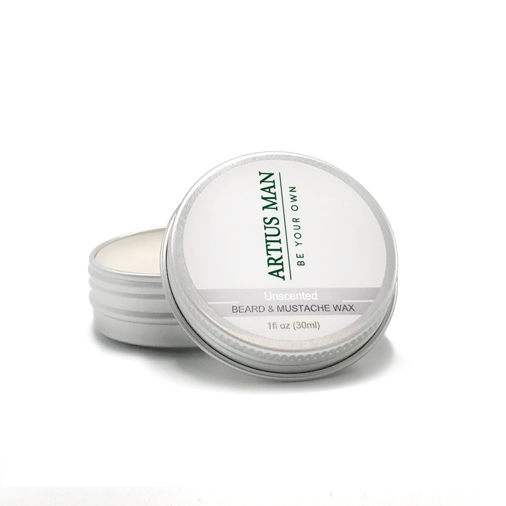 Unscented Beard And Mustache Wax - Artius Man