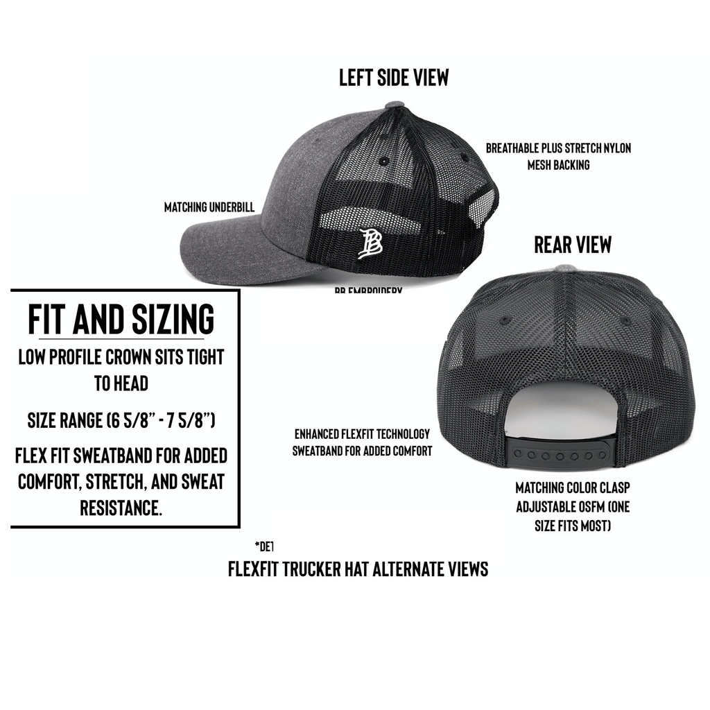 Artius Man Flexfit Trucker Snapback - Black