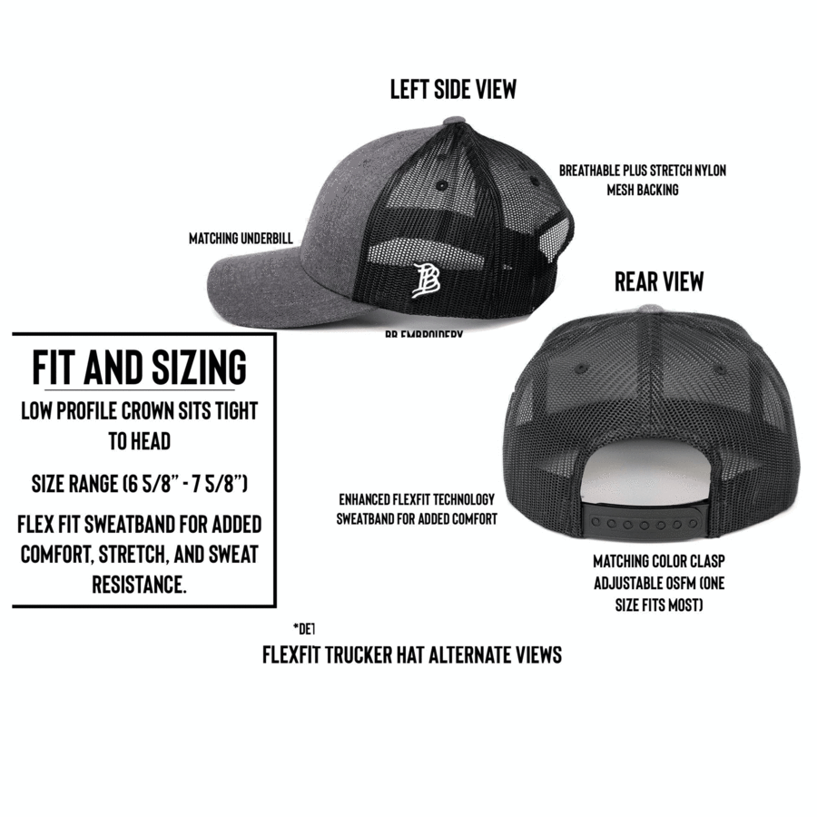 Artius Man Flexfit Trucker Snapback - Charcoal/Black