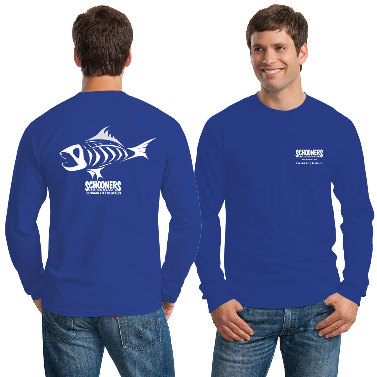 Skeleton Fish Dry Fit Longsleeve T-Shirt