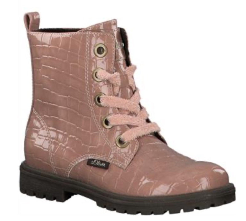 S.Oliver Girls Pink Patent Boot 45220 - Finn Footwear