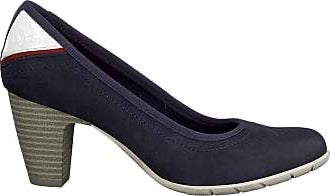 S.Oliver Ladies Navy Low Heel Court Shoe 22401-22 805 - Finn Footwear