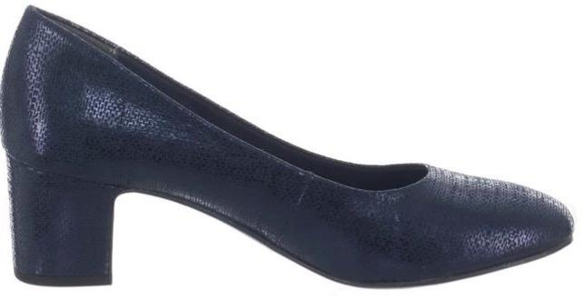 Marco Tozzi Ladies Navy Hi-Heel Court Shoe 2-22426-32 - Finn Footwear