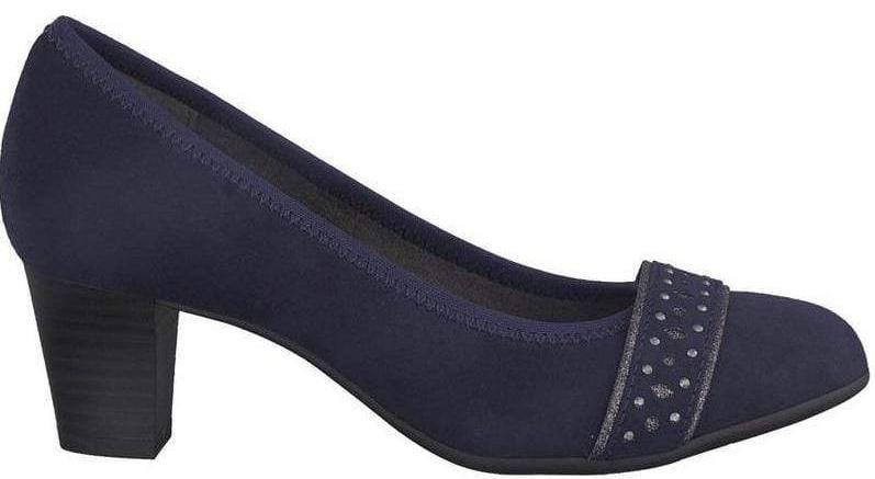 Softline by Jana Ladies Navy Court Shoe 22474 - Finn Footwear