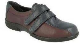 Easy B Beverley Ladies Navy/Wineberry Velcro 2V Fit Shoe - Finn Footwear