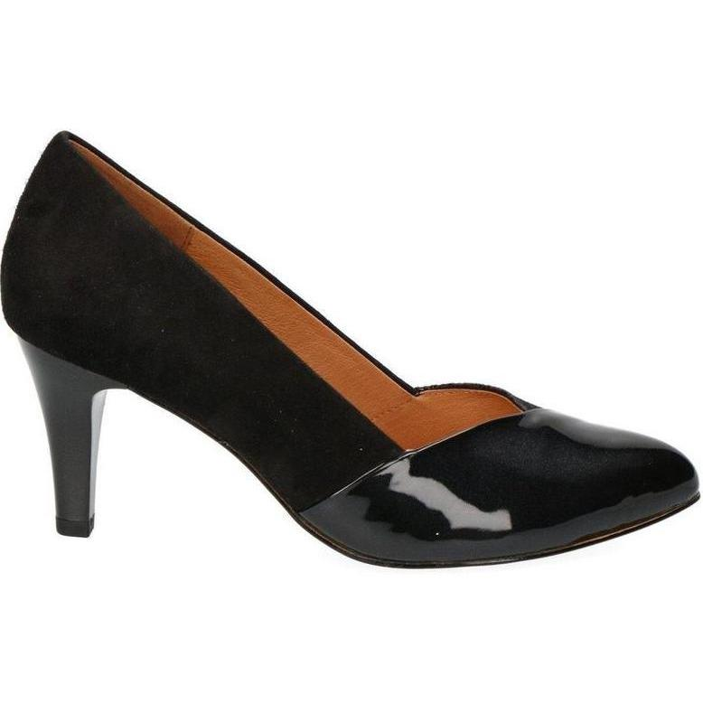 Caprice Ladies Black Court Heel Shoe 22407-21 - Finn Footwear