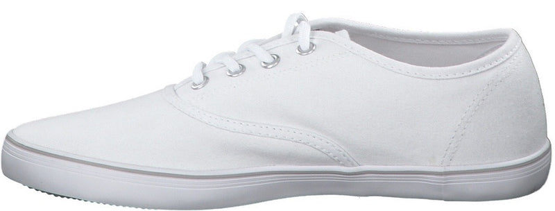 S.Oliver Ladies White Canvas Shoe 23685 - Finn Footwear