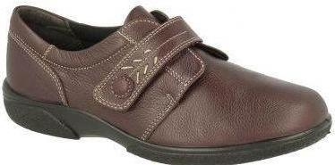 Easy b Healey Ladies Wineberry Velcro Strap EE Fit Shoe - Finn Footwear