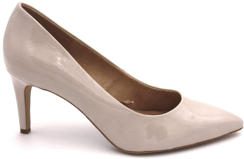 S.Oliver Ladies Light Grey Hi Heel Shoe 22420-22 219 - Finn Footwear