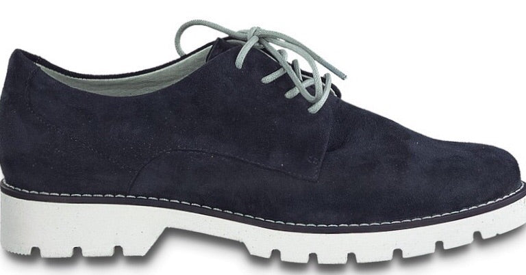 Jana-Softline Ladies Navy Laced Shoe 23750-24 - Finn Footwear