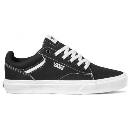 Vans Seldan Boys  Canvas Black & White Trainer - Finn Footwear