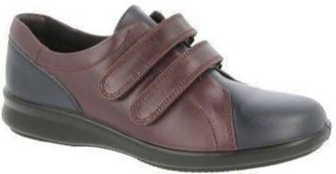 Easy B Naomi Ladies Navy/Plum Velcro EE Fit Shoe - Finn Footwear