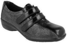 Easy B Chantelle Ladies Black/Snake EE Fit Shoe - Finn Footwear