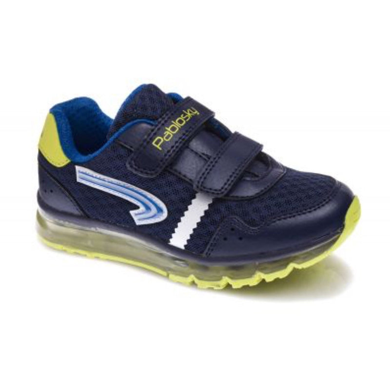 Pablosky Boys Navy Double Velcro Trainer 956320 - Finn Footwear