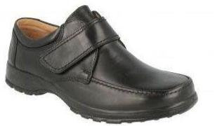 Easy B Norman Men's Black Velcro Wide Fitting Shoe - Finn Footwear