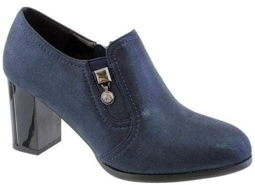 Susst Cleo 9 Ladies Navy Metaltic Shoe Boot - Finn Footwear