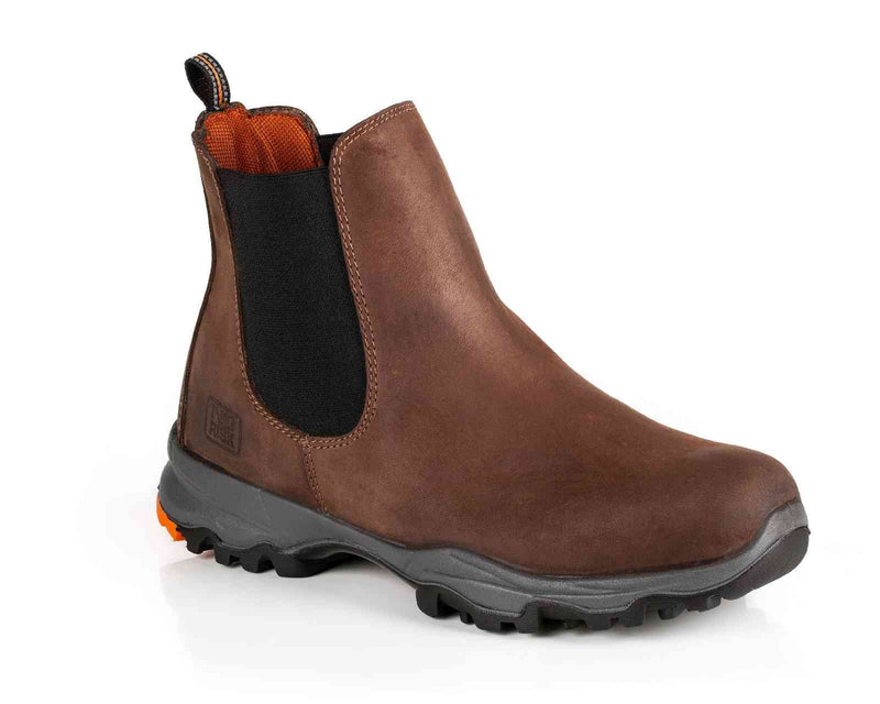 No Risk NASA Men's Brown Slip On Workboot - Finn Footwear