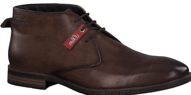 S.Oliver Men's Brown Laced Boot 15103 - Finn Footwear