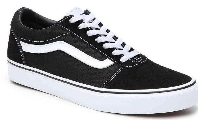 Vans Ward Ladies  Black White Old Skool Trainer - Finn Footwear