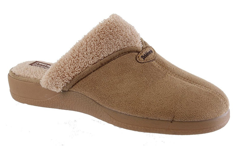 DeValverde Ladies Slip On  Tan Slipper DV1222 - Finn Footwear