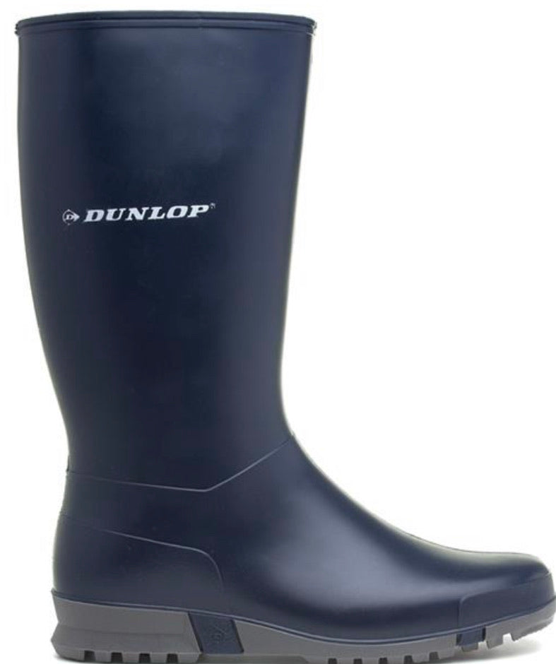 Dunlop Ladies Navy Wellington