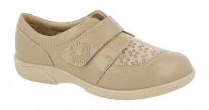 Easy B Keswick Ladies Beige Stretch 2V Fit Shoe - Finn Footwear