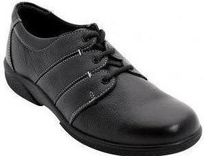Easy B Glossop Ladies Black Laced 4E Fit Shoe - Finn Footwear