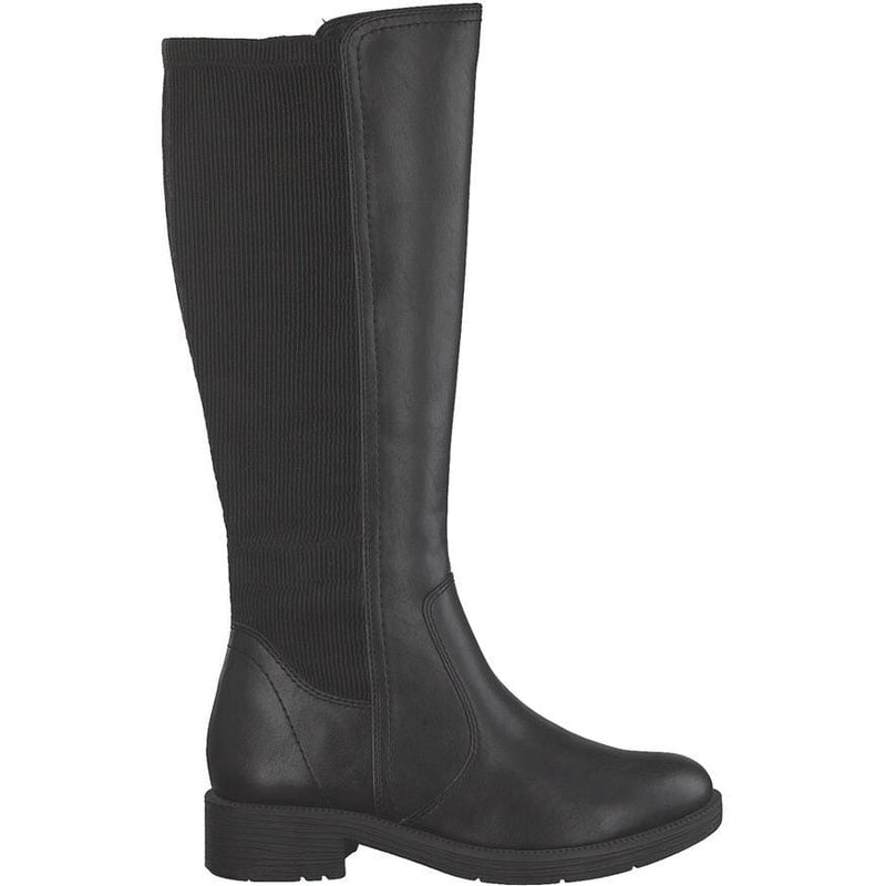 Softline by Jana Ladies Black Knee High Boot 25560 - Finn Footwear