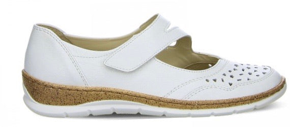 Ara Ladies White Strap Shoe 32636-11 - Finn Footwear