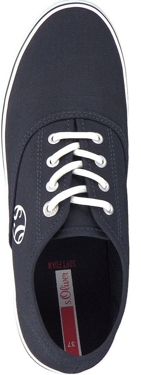 S.Oliver Ladies Navy Canvas Shoe 23685 - Finn Footwear