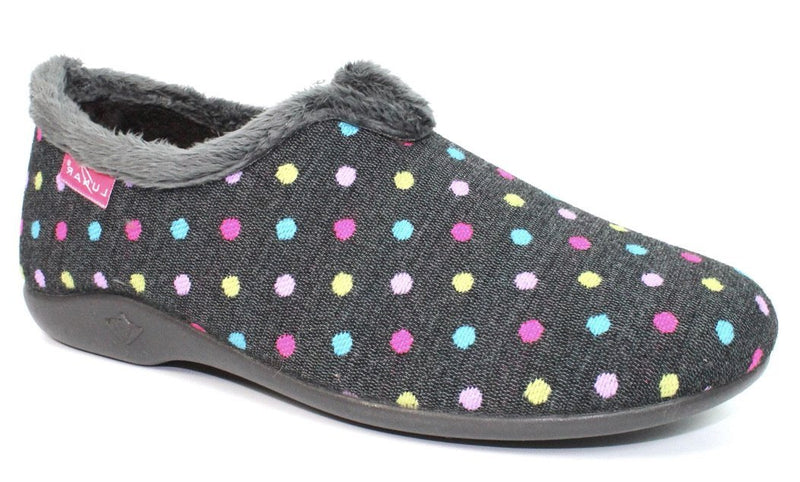 Lunar Lava Ladies Spotty Slipper KLA112 - Finn Footwear