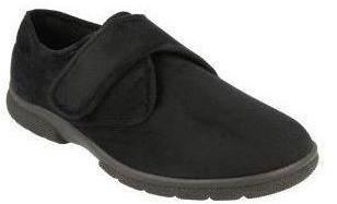 Easy B Daniel Men's Black Velcro House Shoe 2E-4E Fit - Finn Footwear