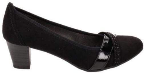 Softline By Jana Ladies Black Court Shoe 22403-23 - Finn Footwear