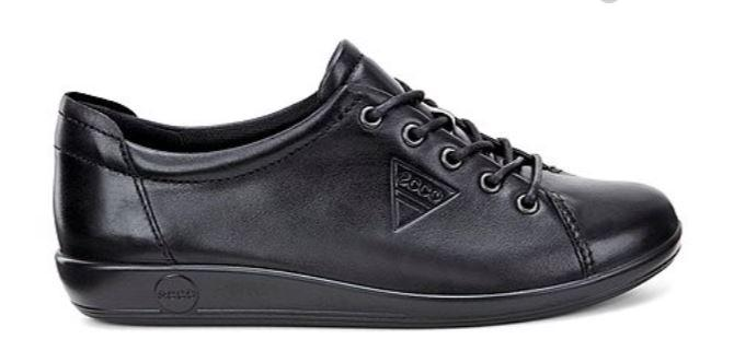 Ecco Soft 2.0 Ladies Black Laced Shoe 206503 - Finn Footwear