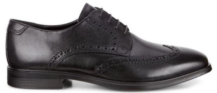 Ecco Mens Melbourne Black Laced Shoe 621664 - Finn Footwear