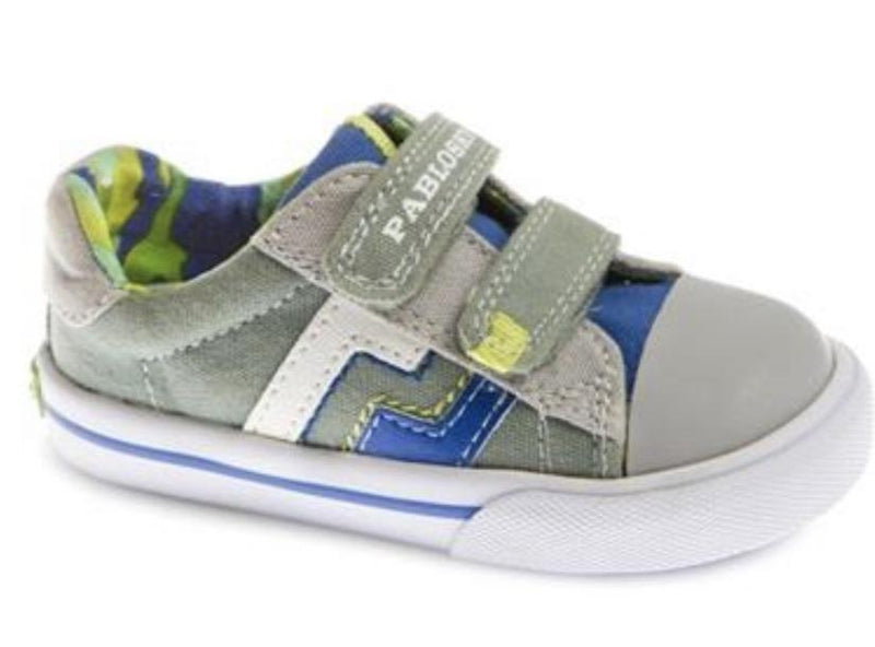 Pablosky Boys Velcro Canvas Shoe 961191 - Finn Footwear
