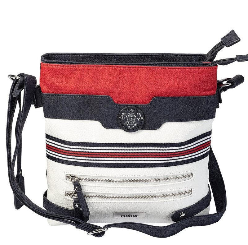 Rieker Ladies Crossbody Navy/White/Red Handbag H1346-15 - Finn Footwear