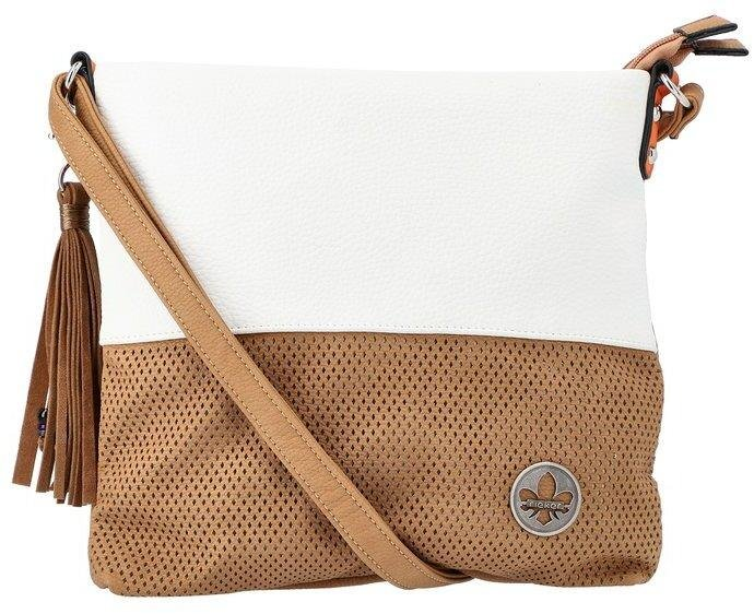 Rieker Ladies Crossbody Tan/White Handbag H1342-80 - Finn Footwear